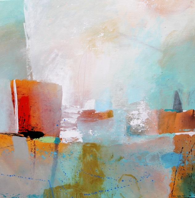 Lars Rylander, målning 100x100 cm