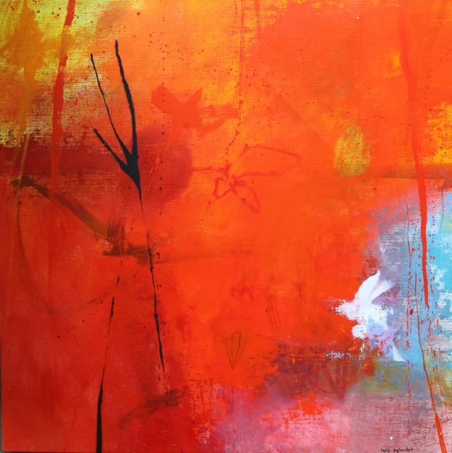 LARS RYLANDER målning 100x100 cm